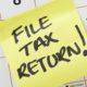 forgot to file tax return